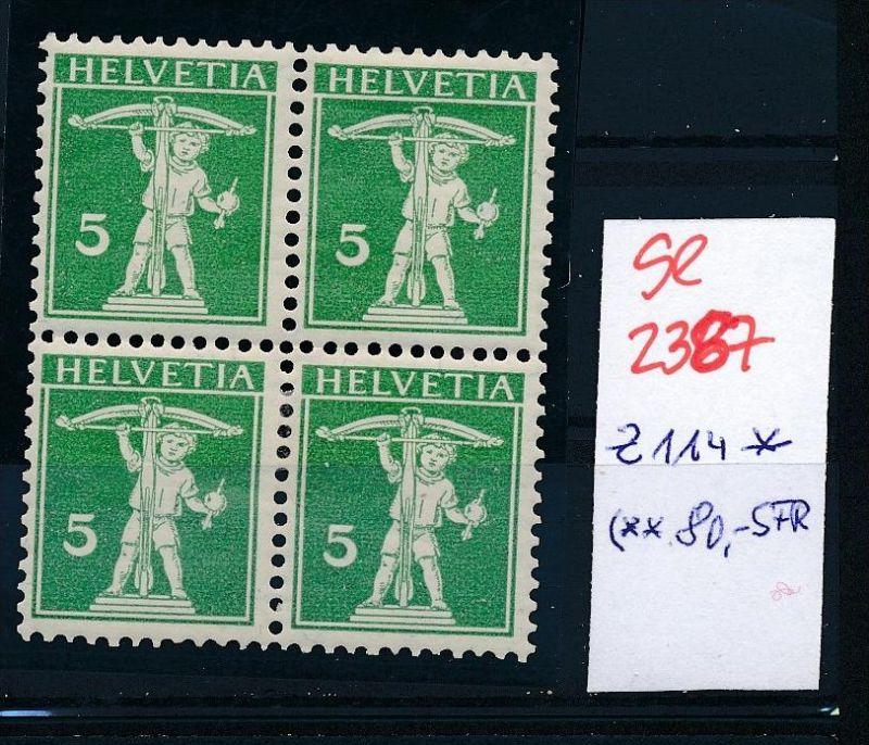 Schweiz Nr. 4x 114  * (Zumstein Nr.+Preis !) ( se2387 ) siehe Bild !