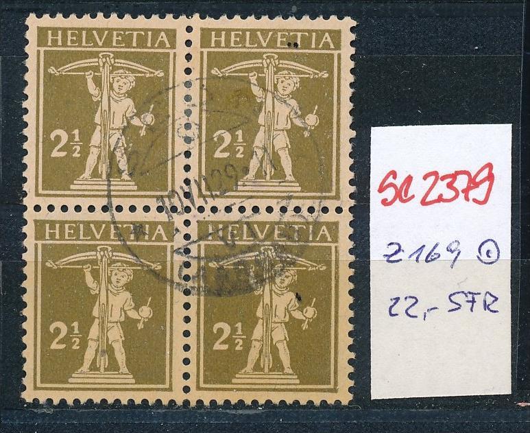 Schweiz Nr. 4x 169   o  (Zumstein Nr.+Preis !) ( se2379 ) siehe Bild !