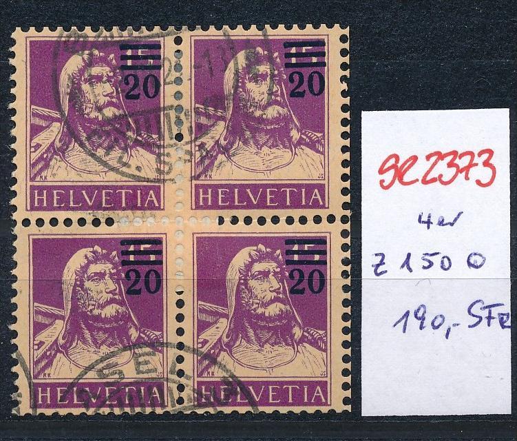 Schweiz Nr. 4x  150   o  (Zumstein Nr.+Preis !) ( se2373 ) siehe Bild !
