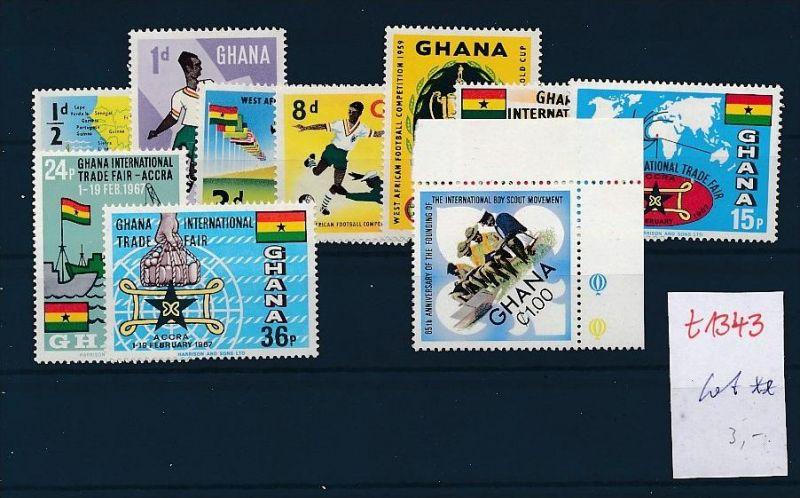 Ghana-Lot ** Ausgaben-nichts gerechnet   ( t1343 ) siehe Bild !