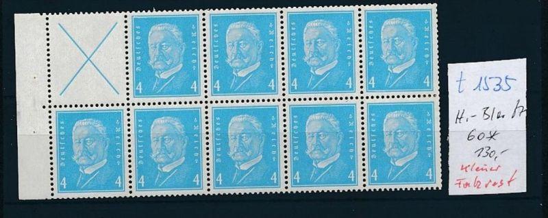 D.-Reich Heft Blatt - 60   (t1535    ) siehe scan
