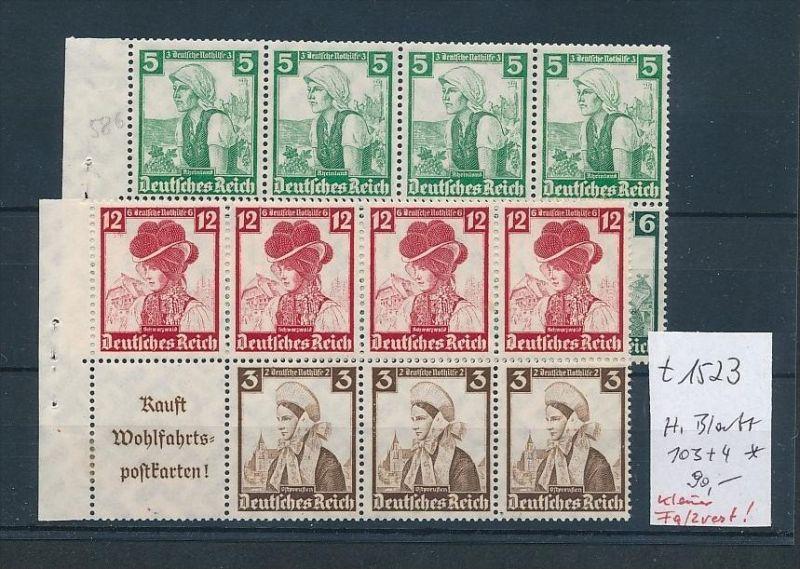 D.-Reich Heft Blatt - 103-04   (t1523    ) siehe scan