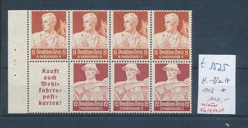 D.-Reich Heft Blatt - 102   (t1525    ) siehe scan
