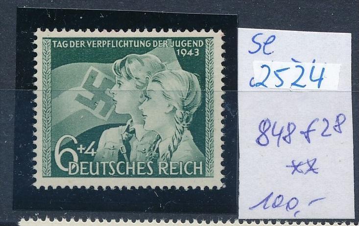 D.-Reich -Plattenfehler   848 f28   **  (se2524   ) siehe scan