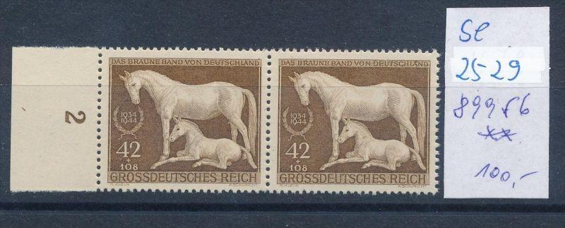 D.-Reich -Plattenfehler   Paar  mit 899   f 6  * *  (se2529   ) siehe scan