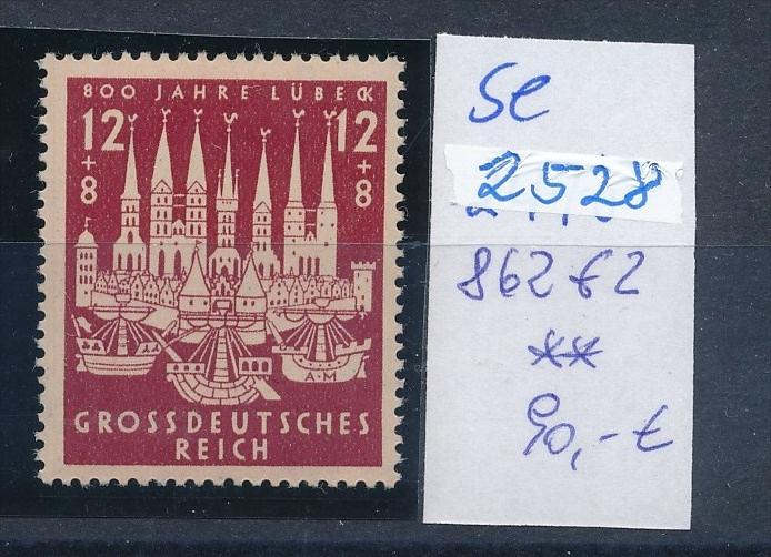 D.-Reich -Plattenfehler  -862 f2   * *  (se2528   ) siehe scan