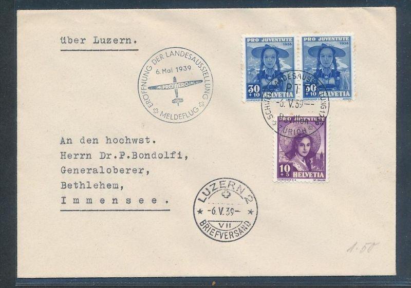 Schweiz -Luftpost netter Beleg    (t2309   ) siehe scan