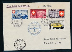 Schweiz -  Luftpost netter Beleg    (t2320   ) siehe scan
