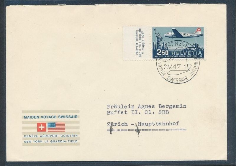 Schweiz -  Luftpost netter Beleg    (t2325   ) siehe scan