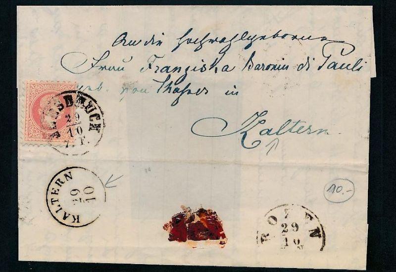 Österreich -netter  alter Beleg    (t1805   ) siehe scan