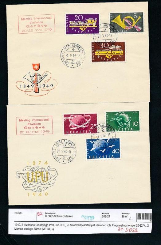 Schweiz-2 Sammler Belege 1949  ( ze5052   ) siehe scan