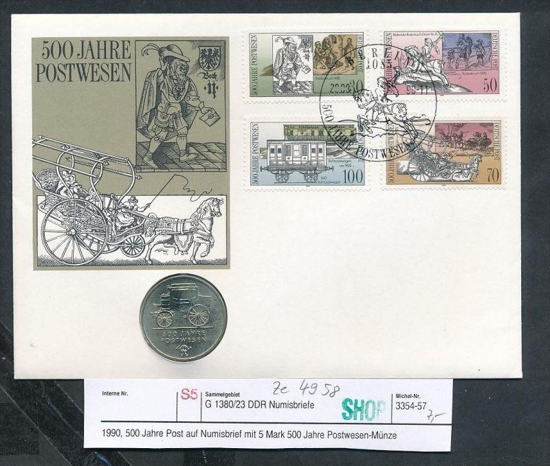 DDR Numisbrief  500 Jahre Post( ze4958   ) siehe scan