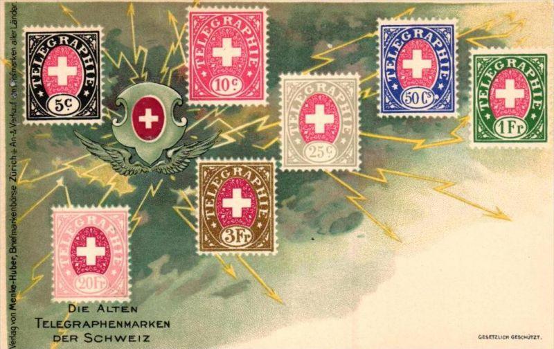 Briefmarken Schweiz -alte Karte  ( k7884   ) siehe scan