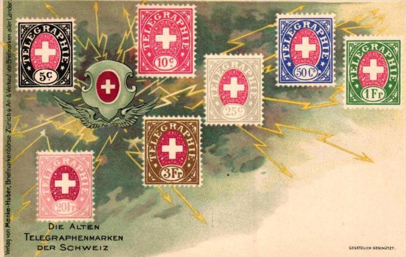 Briefmarken Schweiz -alte Karte  ( k7888   ) siehe scan