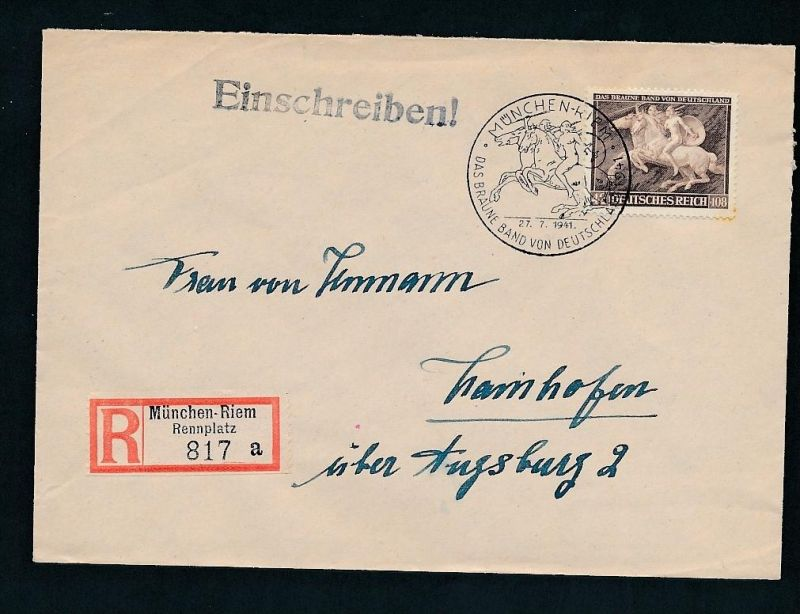 D.-Reich Sonder-Stempel Beleg    (t2437    ) siehe Bild !