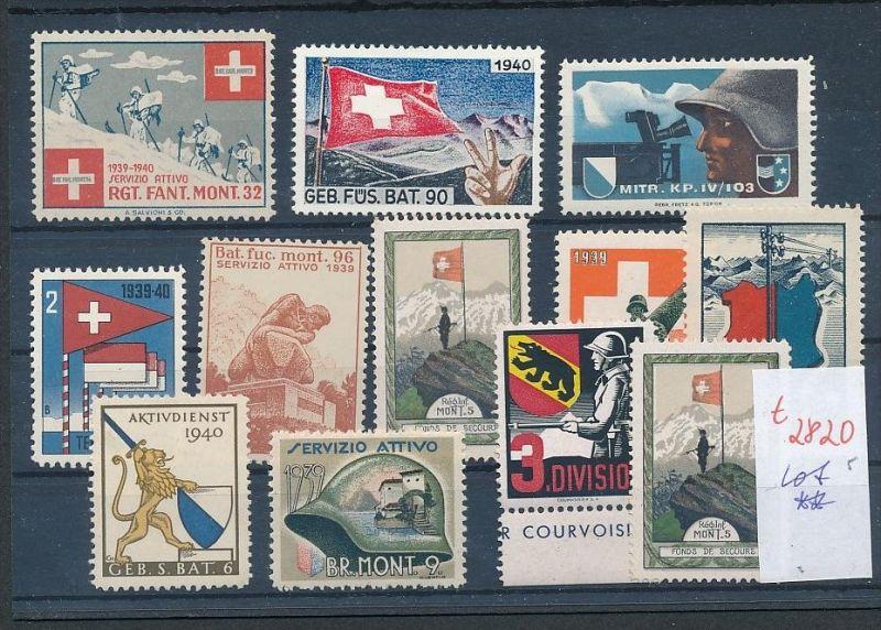 Schweiz -Lot Soldaten Marken      (t2820  ) siehe Bild !