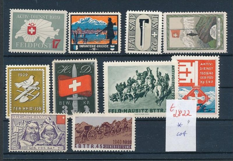 Schweiz -Lot Soldaten Marken      (t2822  ) siehe Bild !