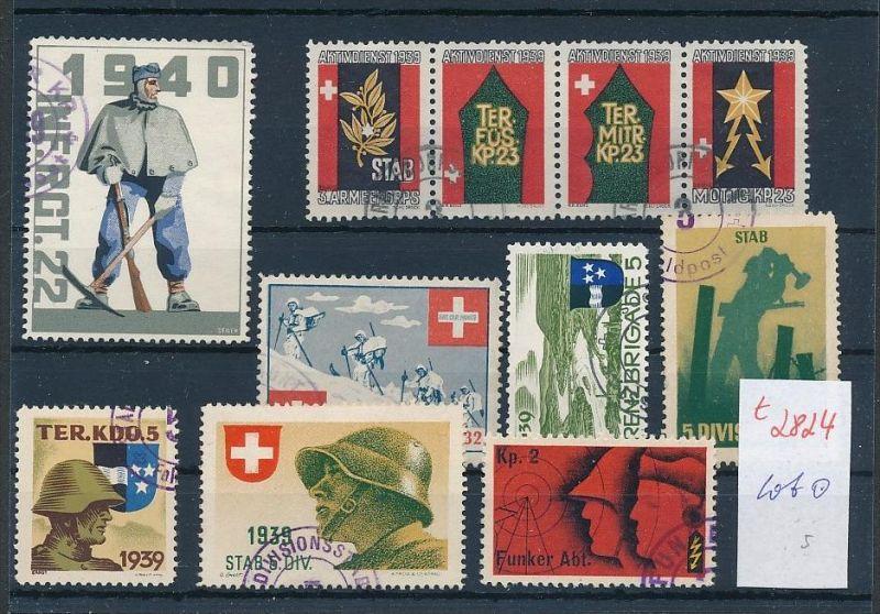 Schweiz -Lot Soldaten Marken      (t2824  ) siehe Bild !