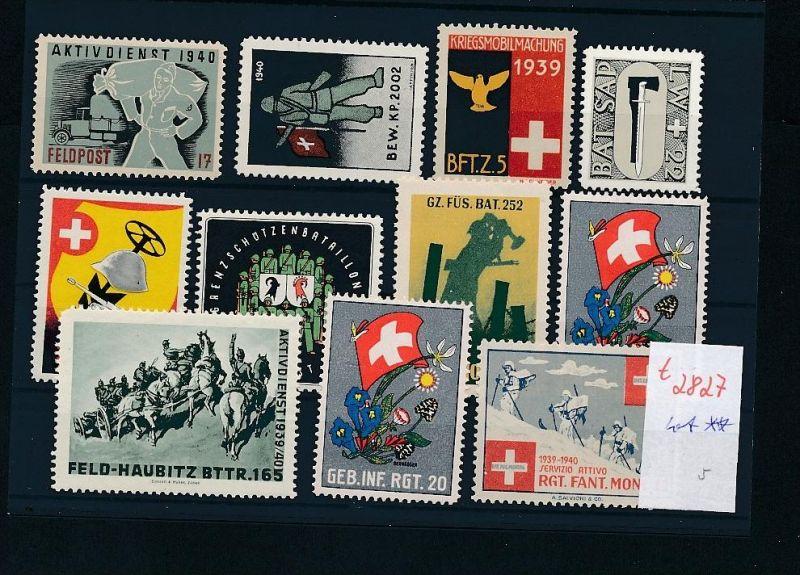 Schweiz -Lot Soldaten Marken      (t2827  ) siehe Bild !