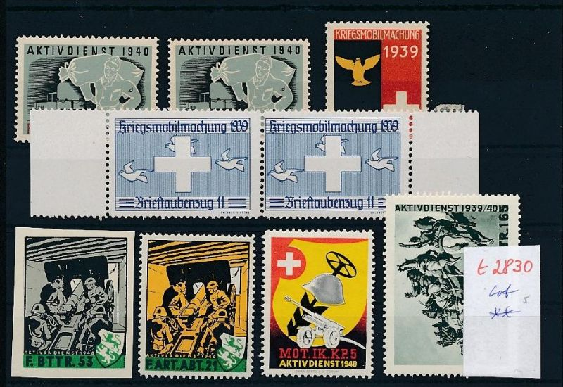 Schweiz -Lot Soldaten Marken      (t2830  ) siehe Bild !
