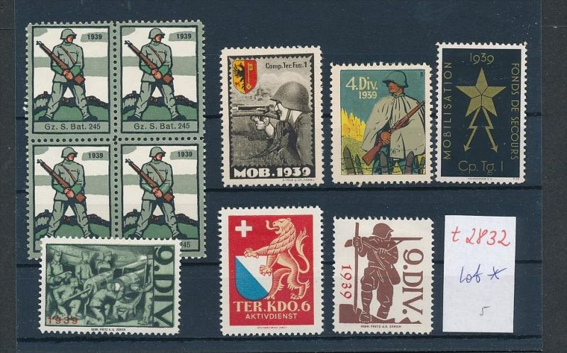 Schweiz -Lot Soldaten Marken      (t2832  ) siehe Bild !