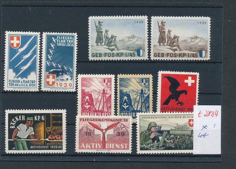 Schweiz -Lot Soldaten Marken      (t2834  ) siehe Bild !