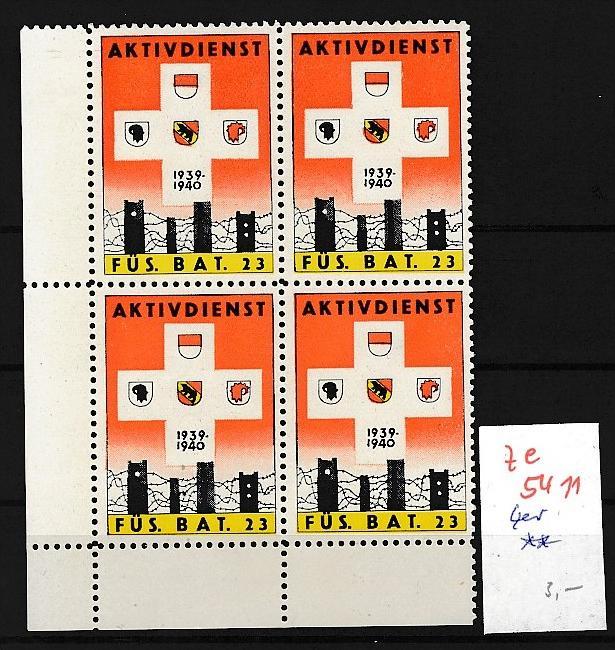 Schweiz - 4er Block ....Soldaten Marken      (ze5411 ) siehe Bild !