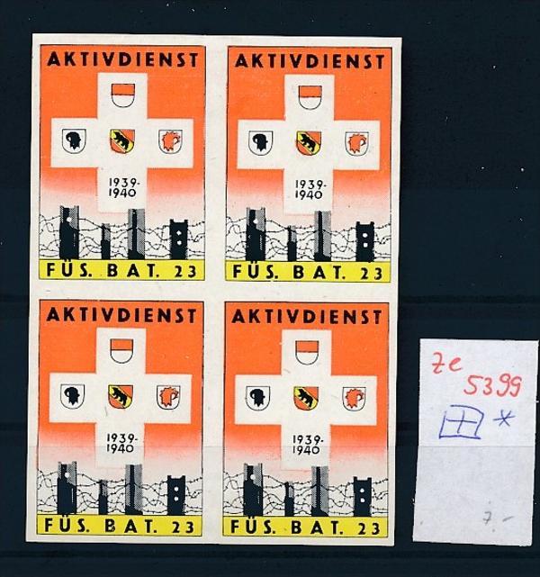 Schweiz - 4er Block  ....Soldaten Marken      (ze5399 ) siehe Bild !