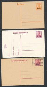 D.- Reich  etappe West- Lot  5- Ganzsachen ( t2868 ) siehe scan