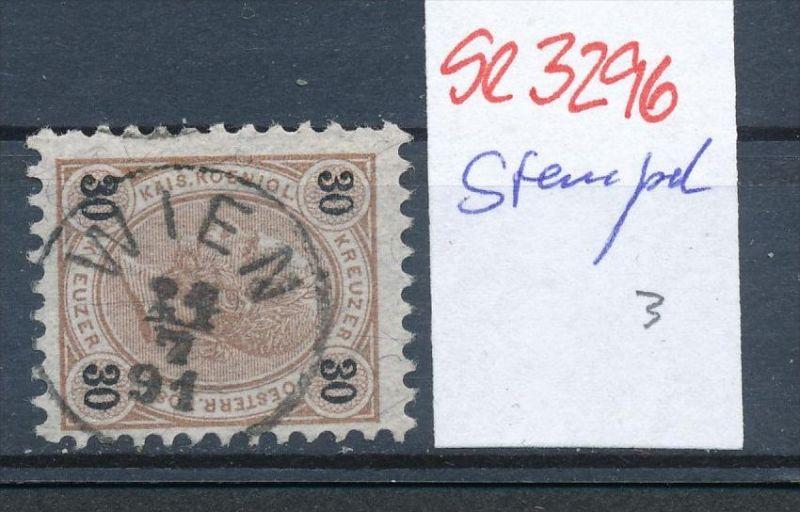 Österreich-Klassik -Stempel Schönheit   ( se3296  ) siehe scan