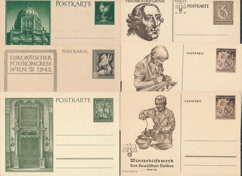 D.-Reich Lot   8  Ganzsachen   ( t3101 ) siehe scan