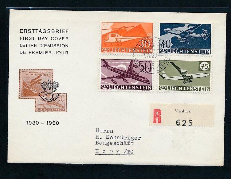 Liechtenstein  391-4 R.-Brief /FDC  (t4190  ) siehe Bild !