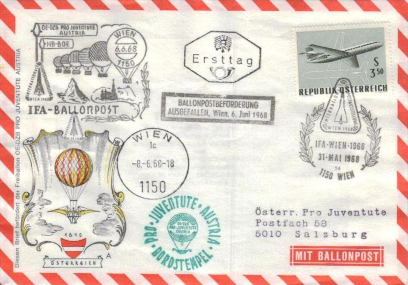 Ballon- Post netter Sammler-Beleg  ( br1250   ) siehe scan