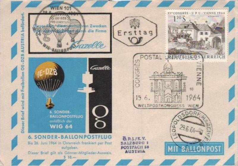 Ballon- Post netter Sammler-Beleg  ( br1253   ) siehe scan