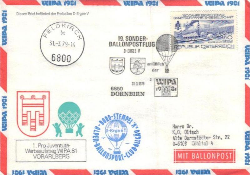 Ballon- Post netter Sammler-Beleg  ( br1256   ) siehe scan