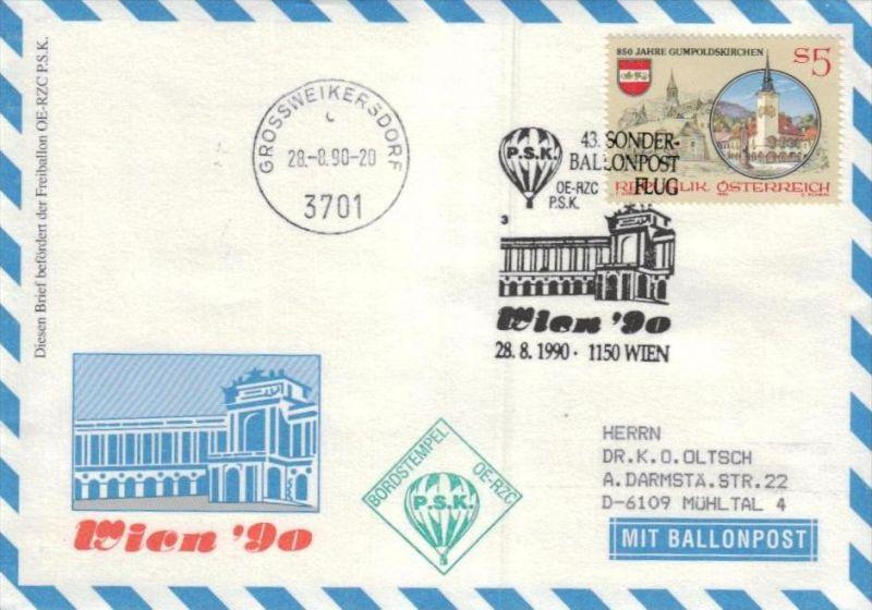 Ballon- Post netter Sammler-Beleg  ( br1282   ) siehe scan