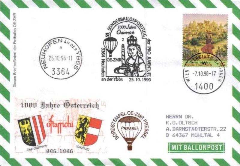 Ballon- Post netter Sammler-Beleg  ( br1276   ) siehe scan