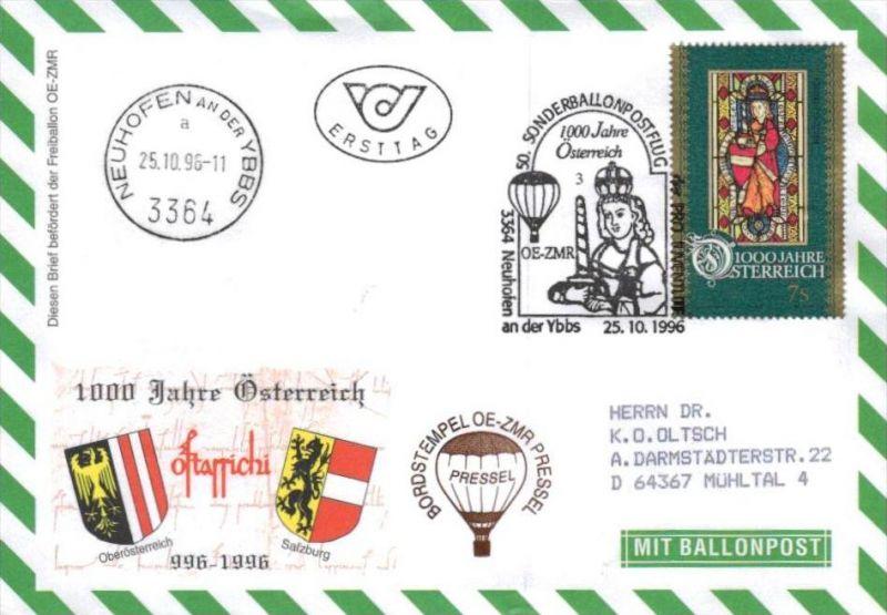 Ballon- Post netter Sammler-Beleg  ( br1275   ) siehe scan