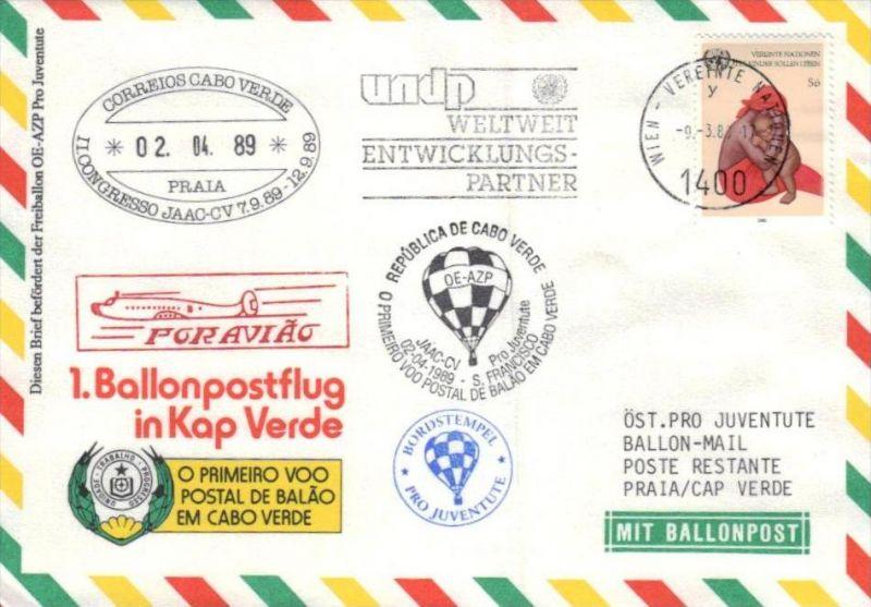 Ballon- Post netter Sammler-Beleg  ( br1289  ) siehe scan
