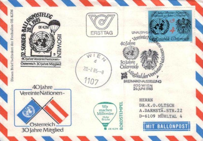Ballon- Post netter Sammler-Beleg  ( br1322  ) siehe scan