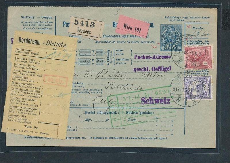 Ungarn Paketkarte ...   netter Beleg     ( ze5668  ) siehe scan