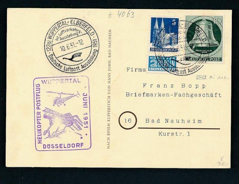 BRD Wuppertal  alter - netter  Beleg  .( t4063 ) siehe scan