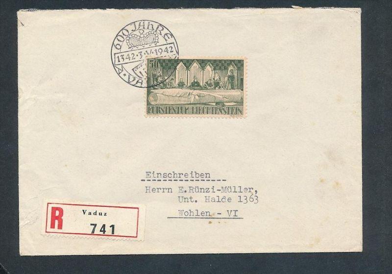 Liechtenstein R.-Brief   - netter  Beleg  .( t4031-2 ) siehe scan
