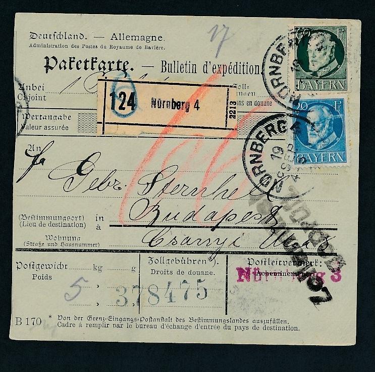 Bayern- Paket Karte ..  - netter  Beleg  .( t3952 ) siehe scan 0
