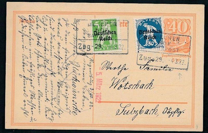Bahnpost - Bedarf Karte ..  - netter  Beleg  .( t3949 ) siehe scan 0