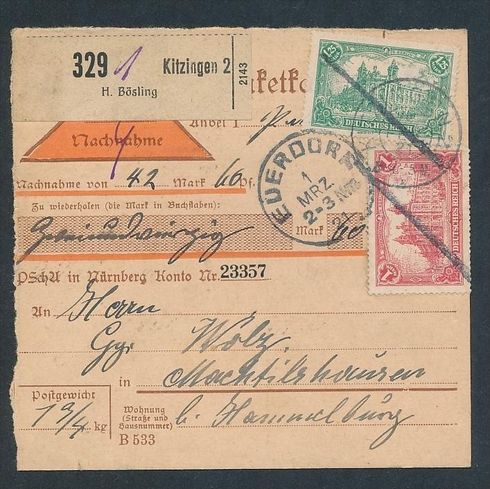 Paket Karte ..  - netter  Beleg  .( t3946 ) siehe scan