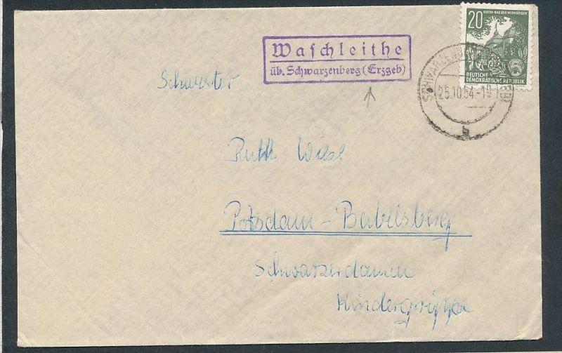 DDR Landpost Waschleite  ..  - netter  Beleg  .( t3941 ) siehe scan 0