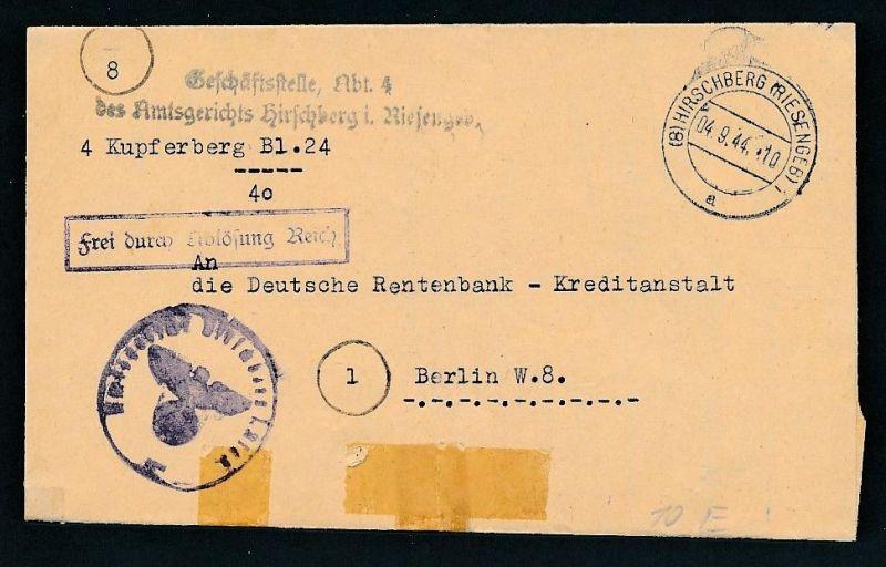 Dienstpost -Hirschberg ..  - netter  Beleg  .( t4355 ) siehe scan