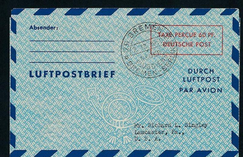 Ganzsache - Luftpost  -netter Beleg .( t4376 ) siehe scan