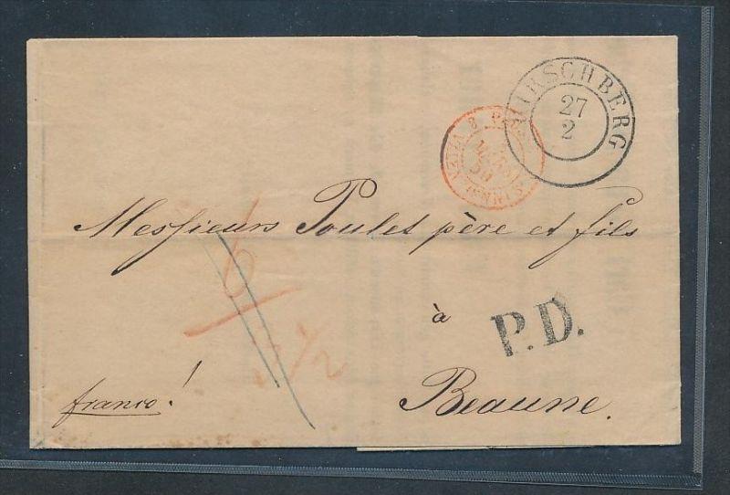 Hirschberg  alter Brief Ausland -netter Beleg .( t3629 ) siehe scan